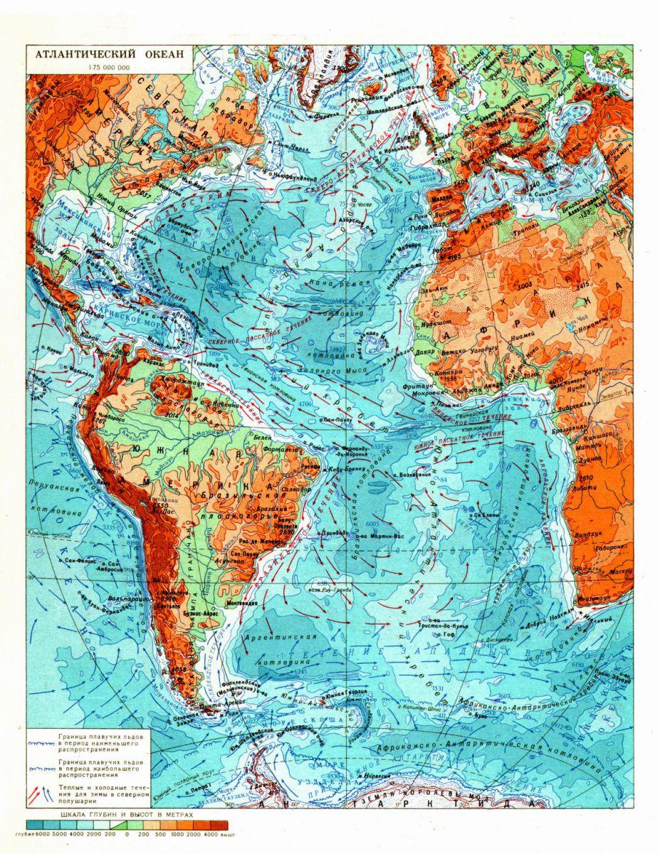 Схема течений атлантического океана фото 660