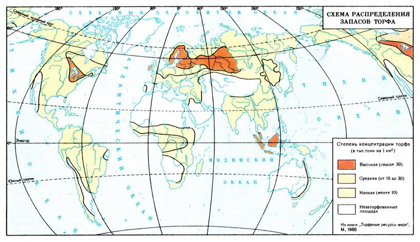 Торфяные ресурсы мира.
