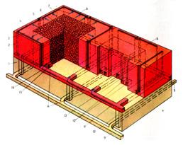 Шахтная система выщелачивания металла с отбойкой и магазинированием руды